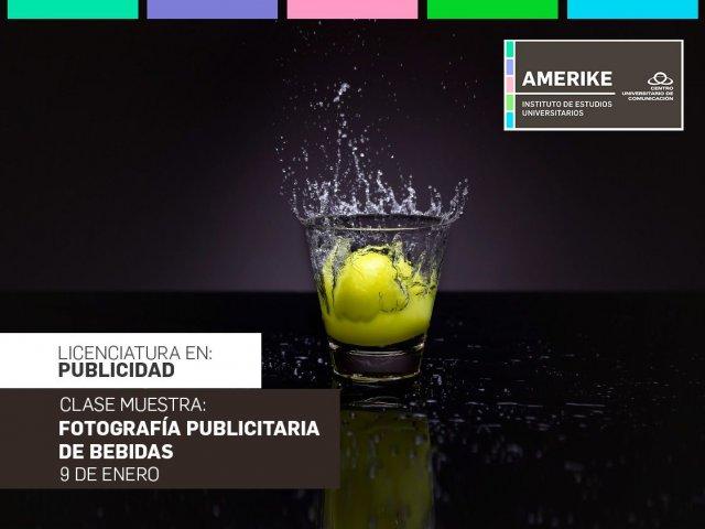 """Clase Muestra """"Fotografía publicitaria de bebidas"""""""