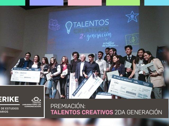 Premiación Talentos Creativos 2da Generación