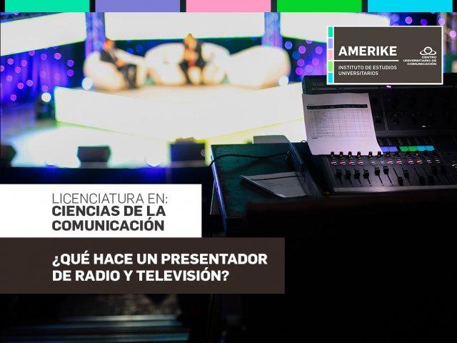 ¿Qué hace un presentador de radio y televisión?